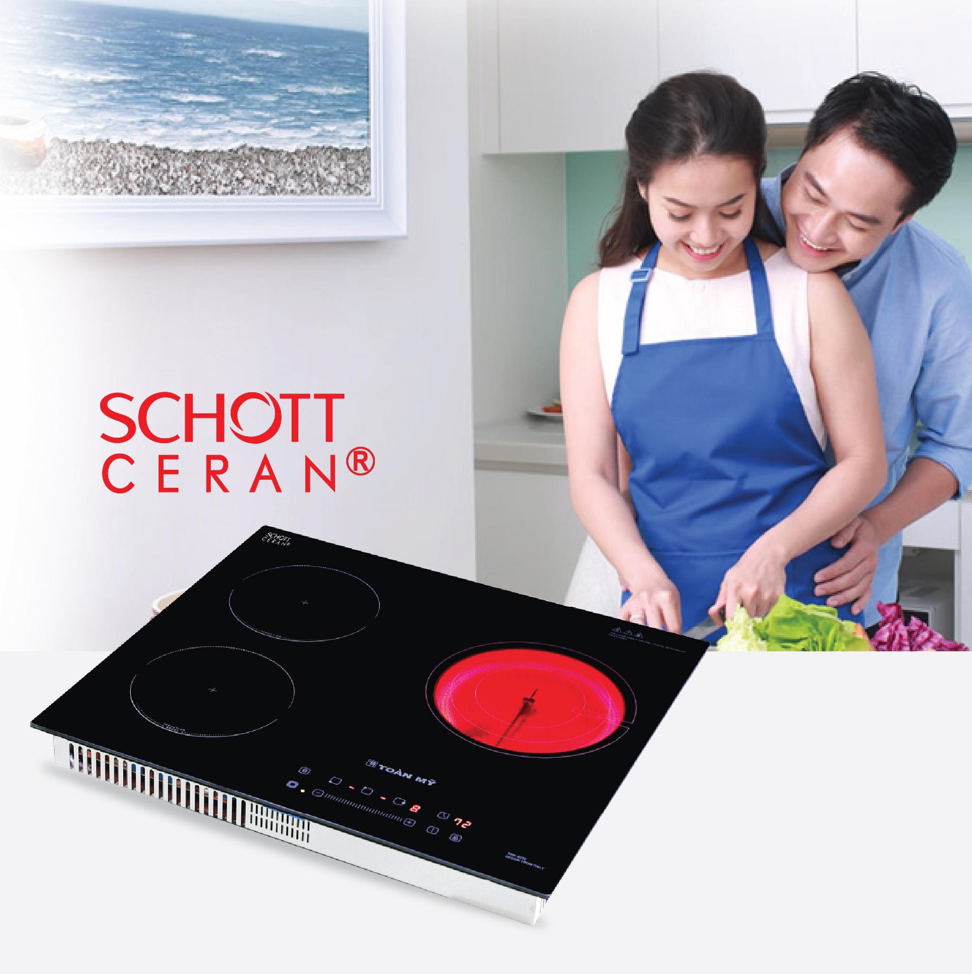 Bếp điện từ hồng ngoại kết hợp Toàn Mỹ an toan tuyệt đối, tiết kiệm điện