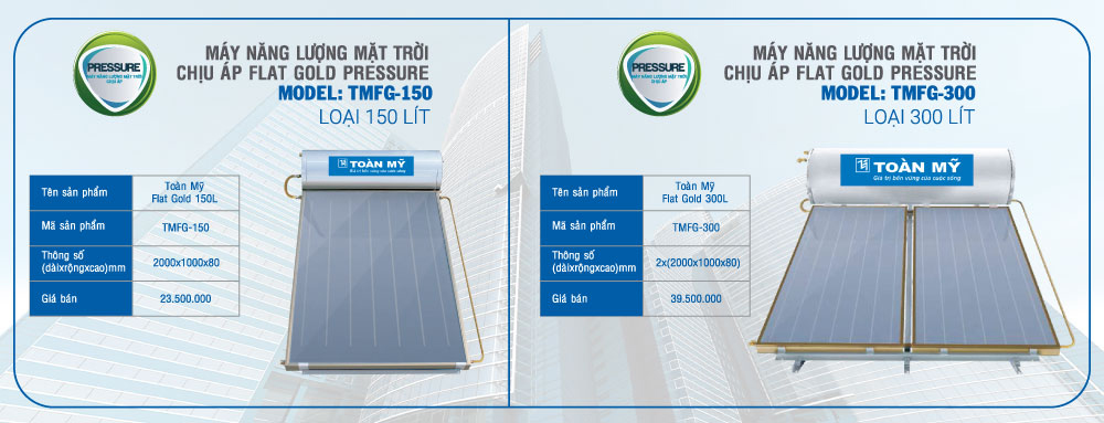Giá máy nước nóng năng lượng mặt trời mặt phẳng